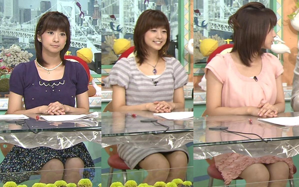 生野陽子 机のミニスカート きわどい!?キャプ画像(エロ・アイコラ画像)