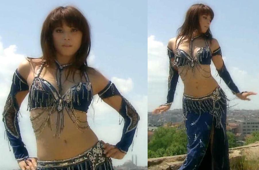 上原多香子 ベリーダンスのセクシー衣装キャプ画像(エロ・アイコラ画像)