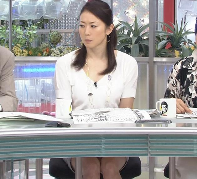 朝ズバの机の下のミニスカートキャプ画像(エロ・アイコラ画像)