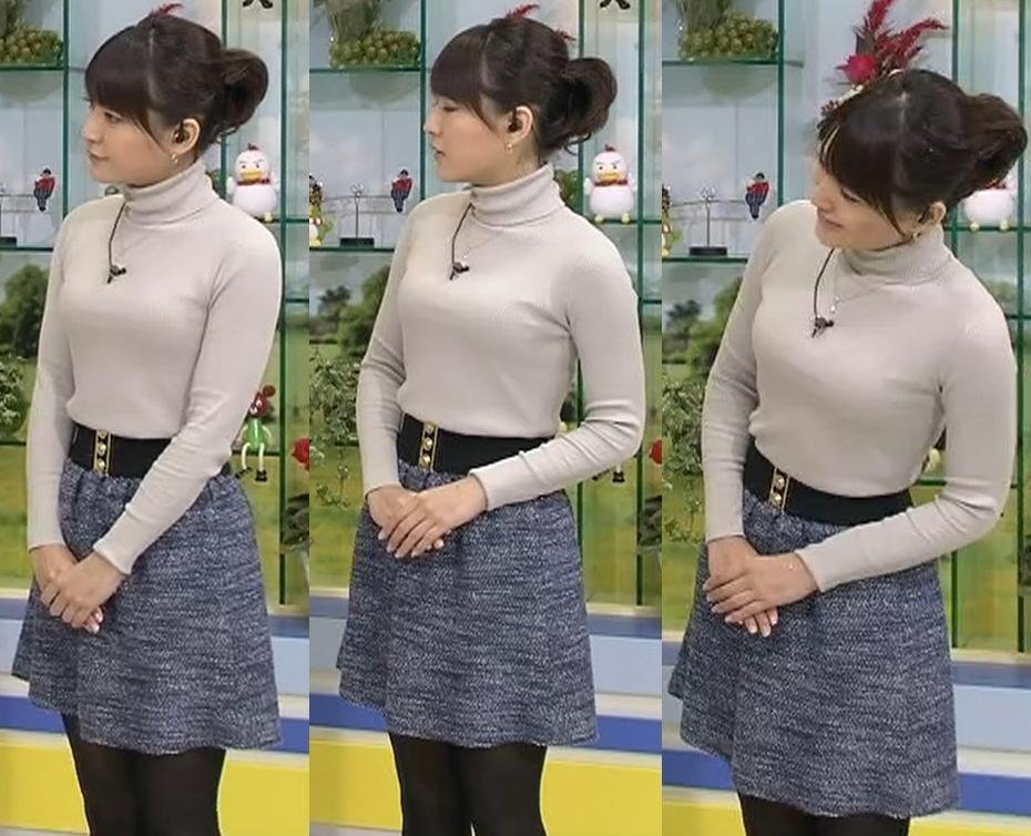 小熊美香 巨乳のおっぱいぴったり服 ブラ透けは・・・?キャプ画像(エロ・アイコラ画像)