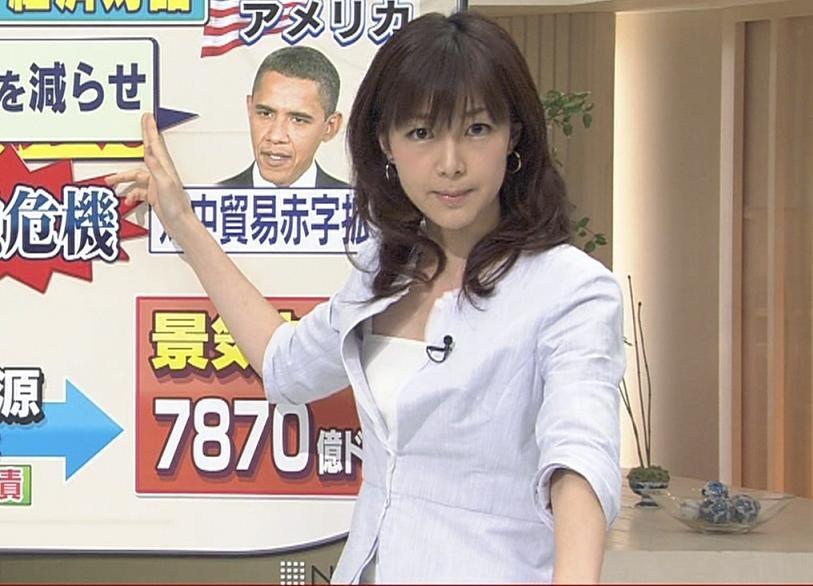 岡山裕子 服の隙間から見えるキャミソールがエロい!キャプ画像(エロ・アイコラ画像)