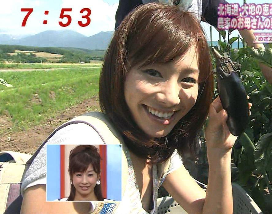 山縣苑子 野菜収穫で前かがみになり、おっぱいちらり!!キャプ画像(エロ・アイコラ画像)