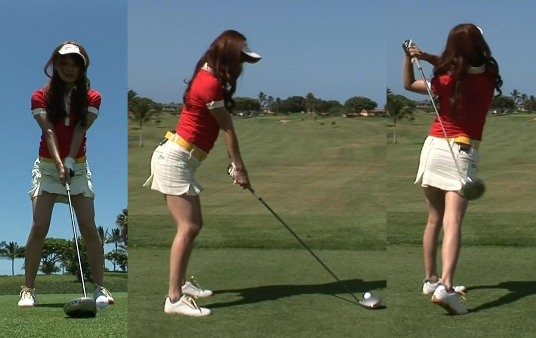 八田亜矢子 スカートの中まで見えるミニスカゴルフキャプ画像(エロ・アイコラ画像)