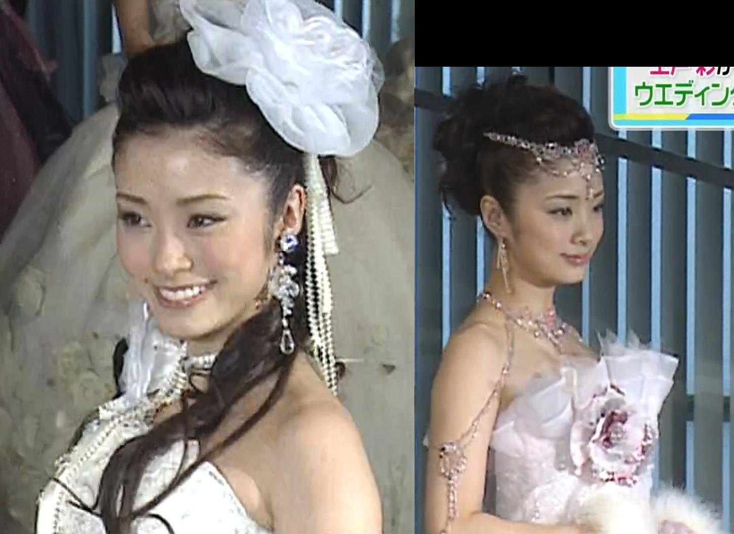 上戸彩 セクシーウェディングドレスキャプ画像(エロ・アイコラ画像)
