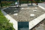 抗菌砂を砂場に配置