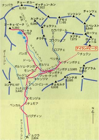 クーンブ周辺地図
